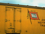 Railroad Box Car Showing the Flag Logo of the Wabash Railroad Premium Photographic Print by Walker Evans
