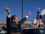 Presidential Nominee Richard Nixon Upon His Arrival in San Diego Premium Photographic Print by Arthur Schatz