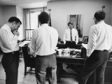 Senator Robert F. Kennedy with Staff in His Office Premium Photographic Print by Bill Eppridge