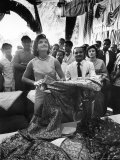 Mrs. Jacqueline Kennedy on Tour in India Premium Photographic Print by Art Rickerby