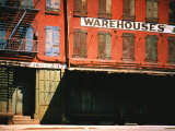 Shuttered Warehouse on the Lower East Side Lit by Late Day Sunlight Premium Photographic Print by Walker Evans