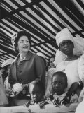 Mrs. Lyndon B. Johnson in Senegal Premium Photographic Print by Hank Walker