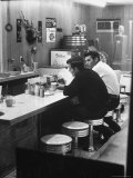 Patrons at Counter in Roadside Diner Photographic Print by John Loengard