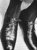 Pair of Alligator Shoes Sold at Neman Marcus For $135 Dollars Premium Photographic Print by Francis Miller