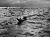Nova Scotia Fishermen at Sea Off Grand Banks Premium Photographic Print by Peter Stackpole
