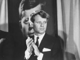 Senator Robert F. Kennedy Campaigning For Local Democrats Premium Photographic Print by Bill Eppridge