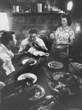 Venezuelan Family Eating Dinner Premium Photographic Print by Art Rickerby