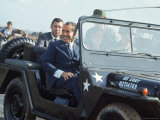 President Richard M. Nixon Travelling in Us Army Jeep During Visit to Vietnam Premium Photographic Print by Arthur Schatz