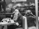"Santa Taking a ""Coffee Break"" During NYC Christmas Season Photographic Print by Leonard Mccombe"