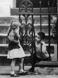 Slum Children in Notting Hill Section Premium Photographic Print by Terence Spencer