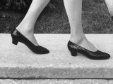 View of a New Type of Woman's Shoe Premium Photographic Print by Yale Joel
