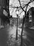 Rainy Beacon Hill St at Dusk During Series of Boston Stranglings Premium Photographic Print by Art Rickerby