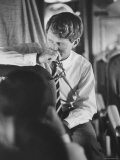 Senator Robert F. Kennedy Aboard Plane During Trip to Help Local Candidates Reproduction photographique par Bill Eppridge