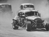Semi Pro Stockcar Racing Photographic Print by Stan Wayman