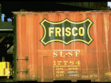 Railroad Box Car Showing the Logo of the Frisco Railroad Premium Photographic Print by Walker Evans