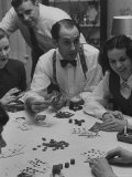 Poker Game Being Played with Pennies Instead of Chips Premium Photographic Print by Nina Leen