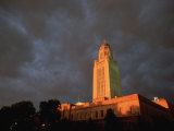 A Storm Brews Over the Nebraska State Capitol in Lincoln Photographic Print by Joel Sartore