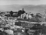 Tiny Rocky Hamlet Where French Publisher Robert Morel Set Up His Home and Business in 1961 Premium Photographic Print by Pierre Boulat