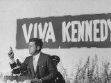 Senator John F. Kennedy Campaigning For President Premium Photographic Print by Paul Schutzer