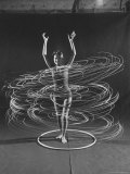 Multiple Exposure of a Woman Playing with a Hula Hoop Premium Photographic Print by J. R. Eyerman