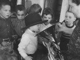 Nursery For Women Bowlers' Children Premium Photographic Print by Stan Wayman