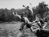 Students of Palmerton High School Going Swimming Premium Photographic Print by Walter Sanders