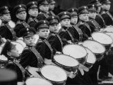 Young Military Cadet Drummers in May Day Parade Photographic Print by Howard Sochurek