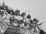 Young Republicans Parade Premium Photographic Print by Stan Wayman
