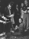Vice President Richard M. Nixon Getting His Shoes Shined at the GOP Convention Premium Photographic Print by Hank Walker