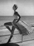 Miami Fashions, Model in Suitable Settings For Afternoon and Casual Play Clothes Premium Photographic Print by Nina Leen