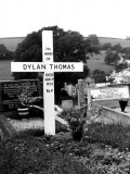 Poet Dylan Thomas' Grave Site Located in St. Martin's Churchyard Photographic Print by Terence Spencer