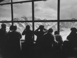 Tourists Viewing the Alps Premium Photographic Print by James Burke