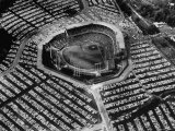 Milwaukee Braves Playing the New York Yankees in Baseball at the World Series Premium Photographic Print by Al Fenn
