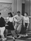 Student Stephen Lapekas Dancing at a YMCA Dance Premium Photographic Print by Stan Wayman