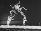 Multiple Exposure Shot of a Gymnast Jumping on a Trampoline Premium Photographic Print by J. R. Eyerman
