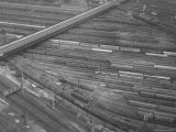 Rail Road Cars During Rail Strike Premium Photographic Print by Joe Scherschel