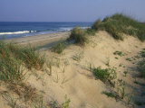 The Atlantic Ocean Rolls in Along the Dunes at Avon Photographic Print by Stephen Alvarez