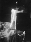Molten Steel Being Poured in Factory Premium Photographic Print by E O Hoppe