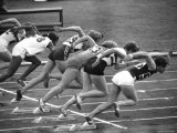 Women Runners Competing at the Olympics Photographic Print by George Silk