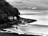 View of Poet Dylan Thomas' Boathouse Along the Coastline of Wales Photographic Print by Terence Spencer