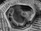 Milwaukee Braves Playing the New York Yankees in Baseball at the World Series Fototryk i høj kvalitet af Al Fenn