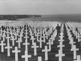 US Army Cemetery at Omaha Beach Photographic Print by Leonard Mccombe