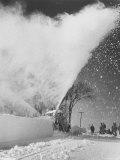 Rotary Snow Blower Removes 12 Inches on Snow Fall Premium Photographic Print by Stan Wayman