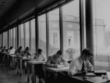 Students Studying at a Library at Harvard University Photographic Print by Dmitri Kessel