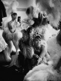 Showgirls Sitting in the Dressing Room of the Stardust Hotel Photographic Print by Ralph Crane