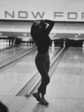 Writhing in Dismay Bowler Phyllis Mercer Watches Ball Miss Pins Photographic Print by Stan Wayman