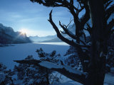 Winter Landscape, Many Glacier, Glacier National Park, Montana Photographic Print by David Boyer