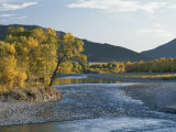 A Scenic View of the Yellowstone River with Absaroka Range Backdrop Photographic Print by Tom Murphy