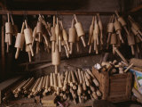Wooden Rolling Pins of All Shapes and Sizes Fill a Stall Photographic Print by Jodi Cobb