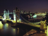 Tower Bridge, Thames River, London, England Photographic Print by O. Louis Mazzatenta
